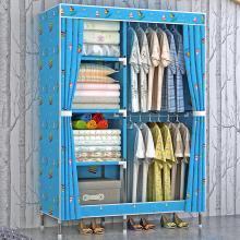 索爾諾   大號布衣柜 鋼管加粗加固19MM簡易衣柜 牛津布組裝衣櫥單人1911