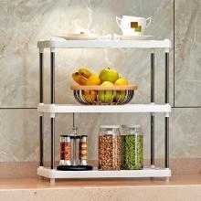 索爾諾  3層置物架廚房層架塑料落地收納儲物架 z613
