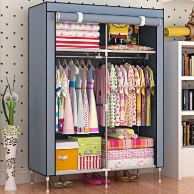 索爾諾   加高腳單人簡易衣柜加固防塵兒童衣櫥8503