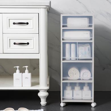 阡佰家 新款可移動可視透明夾縫抽屜分類收納柜  6505