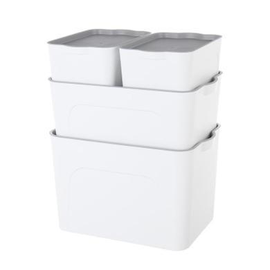 塑料整理收納箱 衣物儲物箱 客廳臥室雜物箱收納箱四件套