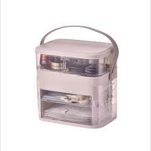 化妝品收納盒 手提旋轉開門式多層折疊首飾盒梳妝盒