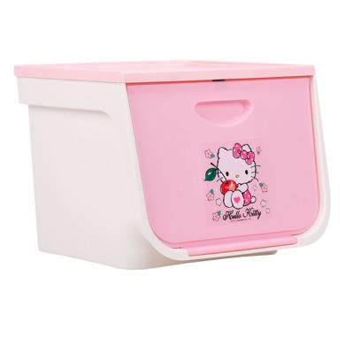 日本愛麗思前開式塑料兒童玩具收納箱翻蓋整理箱愛麗絲儲物三個裝FLP-M