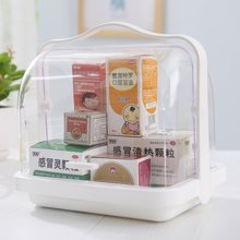 阡佰家 密封食品收纳盒 手提厨房保鲜盒手提透明餐饮盒面包盒酒水早餐箱 药盒 药箱
