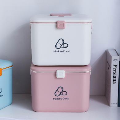 摩登主婦藥箱家用大容量便攜藥物品箱兒童家庭裝急救醫藥箱收納盒