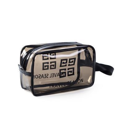 優芬 環保PVC透明洗漱包浴室用品防水收納袋旅行手提便攜大容量化妝包