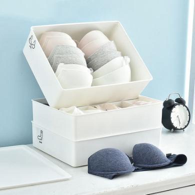 百露內衣收納盒抽屜式塑料衣柜收納箱內褲襪文胸儲物盒分格整理箱
