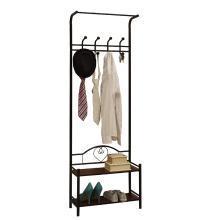 雅客集多功能门厅衣帽架鞋架组合卧室床头柜旁落地衣架门口超薄挂衣架ML-13151
