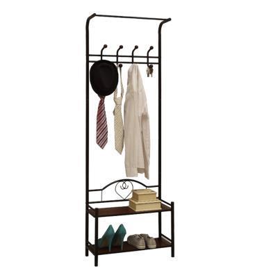 雅客集多功能門廳衣帽架鞋架組合臥室床頭柜旁落地衣架門口超薄掛衣架ML-13151
