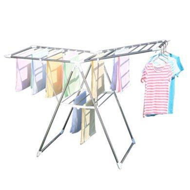 愛麗思IRIS 翼型晾衣架落地折疊陽臺室內曬衣服伸縮不銹鋼涼衣架