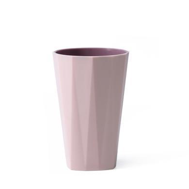 優芬 雙層刷牙漱口杯喝水杯子家用塑料情侶洗漱杯簡約素色牙缸