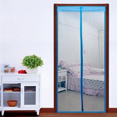 逸活夏季磁性磁條軟紗門簾 簡易防蚊蠅防蟲門簾 加密沙紗窗門 條紋款