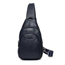 丹爵(DANJUE)新款韩版时尚牛皮男士胸包简约单肩斜跨包精品男包D8101