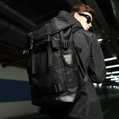 香炫兒XIASUAR歐美潮牌休閑騎行旅游雙肩包男戶外旅行運動大容量背包書包