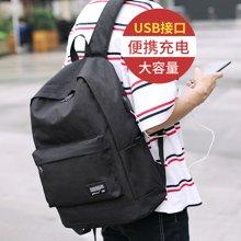 香炫儿双肩包男 USB充电多功能大容量休闲电脑背包韩版潮时尚学生书包女