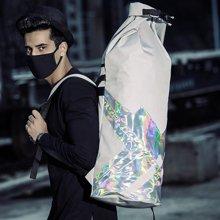 香炫兒XIASUAR 旅游背包男鐳射系列高街潮流男雙肩包運動包戶外女英倫風學生書包