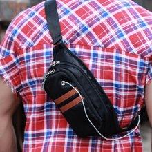香炫儿XIASUAR 休闲斜挎包胸包男士腰包韩版运动户外斜背包潮流帆布包男包