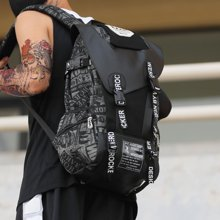 香炫儿XIASUAR 双肩包男旅游包时尚潮流大容量包包韩版学生书包男士背包