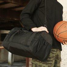 香炫儿XIASUAR 大容量旅行包户外运动训练健身背包男单肩斜挎篮球包行李袋圆筒包