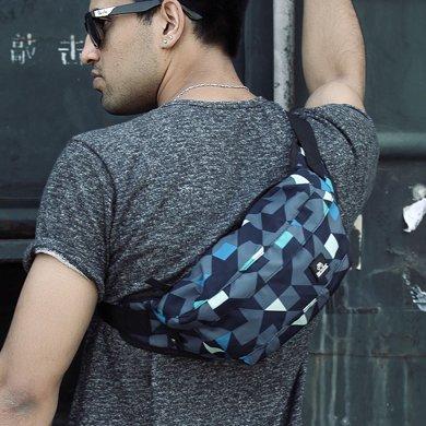 香炫兒XIASUAR 腰包男多功能跑步胸包戶外休閑運動騎行單肩斜挎包時尚潮流小背包