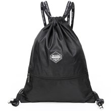 束口袋抽绳双肩包男女通用户外旅行背包防水轻便折叠运动健身包袋