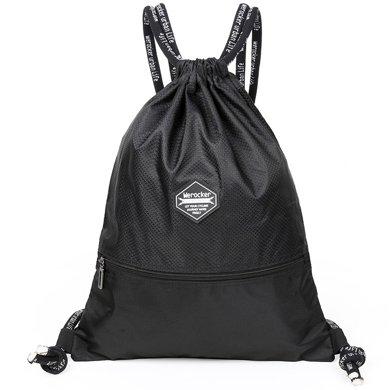 束口袋抽繩雙肩包男女通用戶外旅行背包防水輕便折疊運動健身包袋