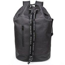 香炫儿XIASUAR 2018年新款健身背包男抽绳双肩包旅行束口袋帆布旅游水桶包篮球包