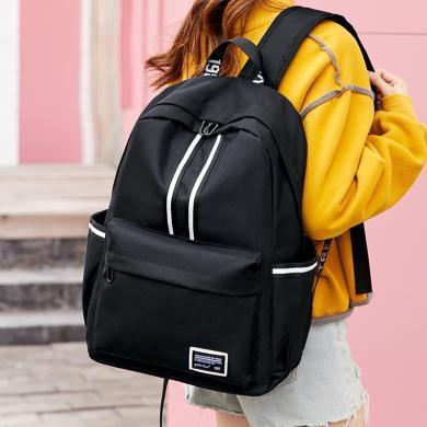 香炫兒XIASUAR 背包女士雙肩包簡約高中初中大學生書包男時尚潮流休閑旅行電腦包