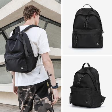 香炫儿(XIASUAR)新款简约书包双肩电脑背包?#34892;?#38386;简约时尚潮流帆布旅行包百搭高中大学生书包