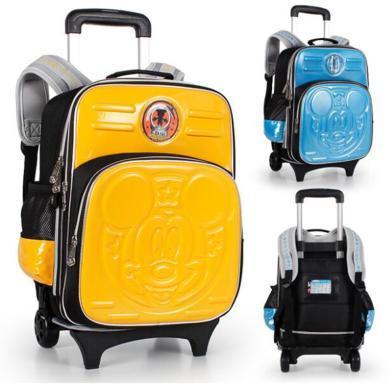 DISNEY迪士尼  小學生拉桿書包1-3-6年級卡通形象兒童旅行拉桿包SM80623