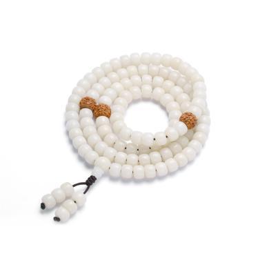 ARMASA阿瑪莎白玉菩提根佛珠手串毛衣鏈108顆一款兩用