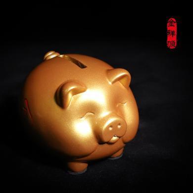 存錢罐 創意兒童儲蓄罐卡通小豬儲錢罐 家居樹脂擺件