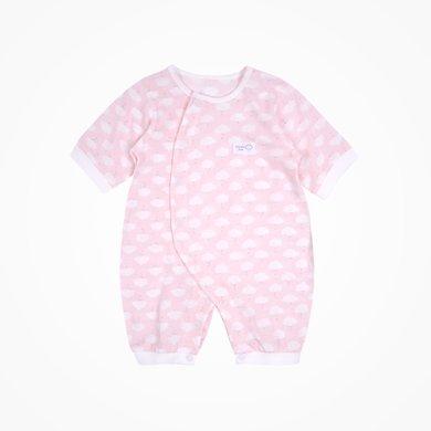 丑丑嬰幼 嬰幼兒連體哈衣夏季新款男女寶寶中袖斜開哈衣、爬服 CJD006X
