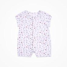 丑丑婴幼 男女宝宝前开连体衣夏季新款婴童纯棉前开短哈衣、爬服CJD002T