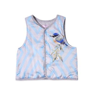 丑丑嬰幼 男寶寶保暖前開棉背心冬季男童卡通可愛棉馬甲6個月-3歲