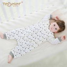 婴儿睡衣宝宝连体睡衣婴儿分腿睡袋男女宝宝空调睡袋儿童防踢纯棉Q0501