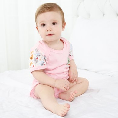 班杰威尔包屁?#38706;?#34966;新生儿夏季纯棉连体爬服衣婴儿包臀三角哈衣