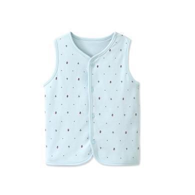 爸媽親兒童馬甲純棉雙層正反兩用背心嬰幼兒坎肩外套女童馬甲89402