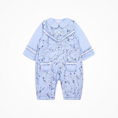 丑丑嬰幼 女寶寶梅花哈衣冬季女童民族風棉哈衣、爬服、連體衣 0-1歲半 CKE060W