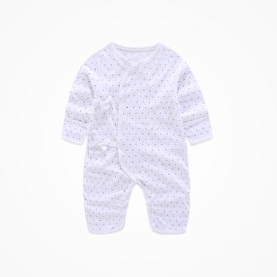 丑丑嬰幼 新生兒綁帶哈衣純棉長袖綁帶哈衣、連體衣、爬服 0-6個月CJD001T