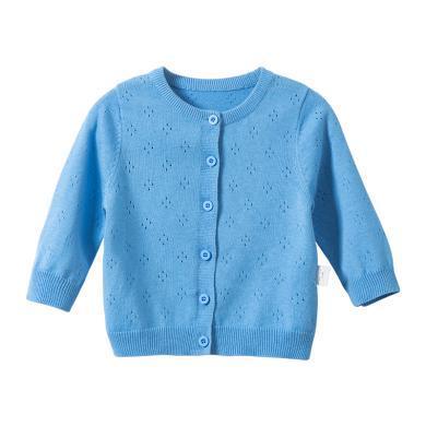 【2019新品】棉店婴儿毛衣春秋薄款纯棉长袖宝宝针织开衫婴幼儿女童开衫外套