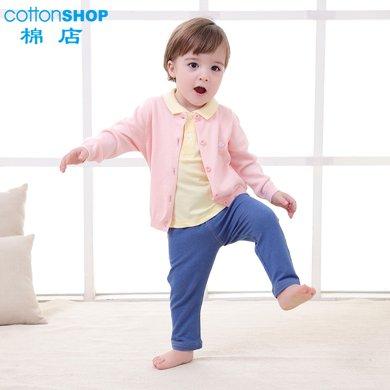 【Cottonshop棉店】棉店童裝夏裝新款長褲純棉嬰幼新生兒男童女童2390100879618