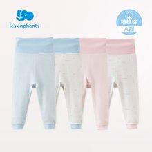 丽婴房婴儿衣服?#20449;?#23453;宝纯棉护肚裤儿童秋装内衣裤2条装新款2018