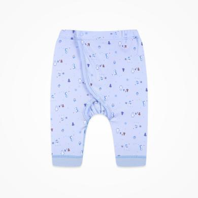 丑丑嬰幼 四季新款男女寶寶前開可調節腰長褲嬰幼兒卡通純棉可開檔長褲 CND012X