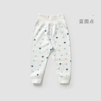 威爾貝魯嬰兒護肚褲純棉男女寶寶保暖長褲幼兒無骨縫兩用襠護肚褲