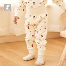 威尔贝鲁婴儿护肚裤纯棉?#20449;?#23453;宝保暖长裤幼儿?#34224;?#32541;?#25509;?#35014;护肚裤