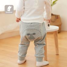 威爾貝魯寶寶保暖褲春秋款嬰兒卡通大屁屁造型褲男女兒童秋褲