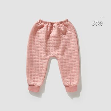 威爾貝魯新生嬰兒兒褲子初生純棉薄款純棉男女童秋褲寶寶兒童保暖褲護肚褲