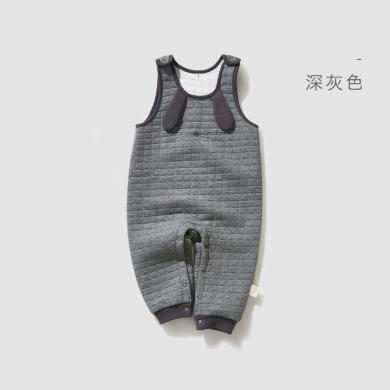 威尔贝鲁宝宝男女童空气层大图案背带裤