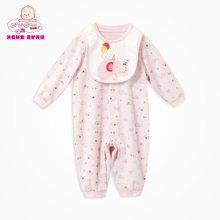 丑丑婴幼春季新款新生婴儿0-1岁半男女宝宝中性前开纯棉哈衣爬服